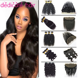 Wholesale Brazilian Natural Wave Hair Ombre - Peruvian Hair Straight 3 Bundles with Frontal 8A Unprocessed Brazilian Body Wave Virgin Hair Bundle Deals Wholesale Human Hair Extensions