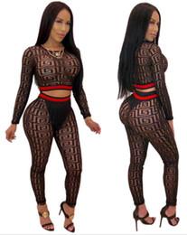 vente en gros t-shirt Promotion pure crop top deux pièces ensemble tenues femmes maille à manches longues t-shirt leggings survêtement pull sexy pantalon desinger imprimer clubwear en gros