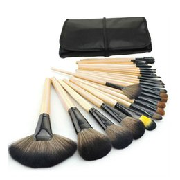 Make-up pinsel wolle online-2018 Professionelle 24 teile / satz Make-Up Pinsel Set Werkzeuge Make-Up Kulturbeutel Wolle Marke Make-Up Pinsel Set Fall Kosmetik Pinsel G125L
