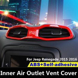 3pcs Silver Auto Air conditioning switch knob Cover Trim for 15-16 Jeep Renegade