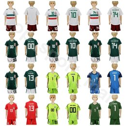 juventud méxico jersey Rebajas 2018 Copa del Mundo de Fútbol Mexico Youth  Jersey Mexicano Niños Fútbol f98b4ac34679c
