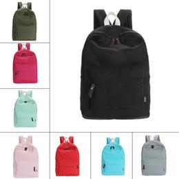 Wholesale Korean Fashion For Boys - Casual Canvas Backpack Fashion school bag for girls and boys unisex backpack shoulder bag black