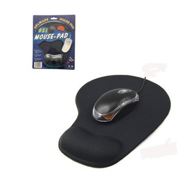 Proteggi Polso Trackball ottico PC Addensare Mouse Pad Support Comfort pad Mouse Pad Mat Mouse per Game Black cheap optical mouse wrist pad da polso del mouse ottico del mouse fornitori