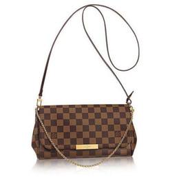 rabbit clutch bag UK - Pochette Favorite Clutch N41129 Damier Ebène Canvas Medium Handbag TOP OXIDIZED REAL LEATHER ICONIC SHOULDER BAG CROSS BODY MESSENGER BAGS