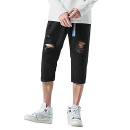 Wholesale Jeans 31 38 Man - Large Men's Loose Tide Fashion Jeans Summer New Style Calf-length Pants Male Comfortable Clothing Plus Size 31 32 33 34 36 38 40