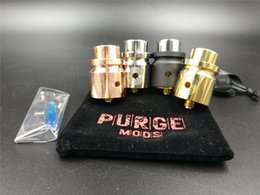 Wholesale T Clamps - HEADSHOT RDA Clone Replaceable Atomizers Unique T-Clamp centre post design Deck fits all AvidLyfe CompLyfe and Purge caps Vape Atomizer DHL