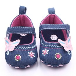 Wholesale Baby Girl Pre Walker Shoes - Sweet Cute Baby Girls Shoes Butterfly Soft Sole Toddler Pre walker Shoes Primer Non Slip First Walker