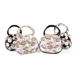 Wholesale Clock Bags - 1PCS Retro Women Bag Fashion Printed Floral Clock Shoulder messenger Bag Handbag Casual Travel beach Bags bolsa Clutch