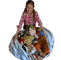 Wholesale Modern Kids Clothing Wholesale - Creative Modern Storage Stuffed Animal Storage Bean Bag Chair Portable Kids Toy Storage Bag & Play Mat Clothes Organizer Tool c339