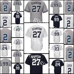 Wholesale 99 Free - Men's 27 Giancarlo Stanton 99 Aaron Judge 23 Don Mattingly Jersey High quality stitched Baseball Jerseys Free Shipping