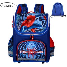 New Children School Bags For Boys Orthopedic Waterproof Backpacks Child Boy  Spiderman Book bag Satchel Knapsack Mochila escolar Y18120303 4dbe7bc3fc