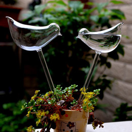 Wholesale Indoor Plant Decor - 2pcs  Lot Home Decor Birds Shape Garden Glass Plant Pots Flowerpot Glass Indoor Garden Automatic Watering Pots Potted Hot Selling
