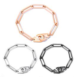 brazalete de tungsteno de las mujeres Rebajas Pulsera de plata de oro rosa de la vendimia para las mujeres pulseras geométricas de acero inoxidable enlace cadena BFF Body Party regalo de la joyería GS931
