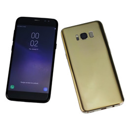 Wholesale Body French - 5.5inch Goophone S8 S8+ cellphone 1GB+4GB MTK6580 Quad Core show 4GB+64GB 4G LTE Android 6.0 metal body smartphone DHL free