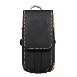 Wholesale Wholesale Casual Wear For Men - Stone grain mobile phone holsters pockets men casual wear belt bag for4.7 inches 5.5 inches 6 inches Case