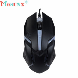 Wholesale Tablet Pc For Sale - Wholesale- Mosunx Advanced mini X7 mouse Wired Optical Gaming Mice Luminous Mouses For PC Laptop 1600 DPI USB 2017 hot sales tablets 1PC