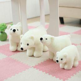 Wholesale Polar Stuff - Wholesale- 7.8 Inch Plush Polar Bear Sweet Cute Lovely Stuffed Baby Kids Toys for Girls Birthday Christmas Gift Cute Girl 20cm Baby Doll