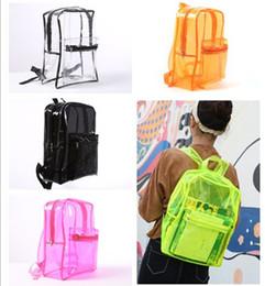 Wholesale free classic books - New Arrive PVC Transparent Backpack Clear Sholder bags for Men Women Teenager Students School Book bag Waterproof Travel Beach Bags Rucksack