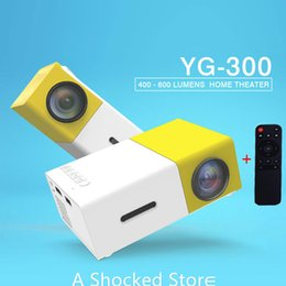 Wholesale Wall Mount Screens - Best YG300 YG-300 LCD Projector 600LM 1080P Mini Portable HD Movie LCD Projector With Screen and Wall Mount