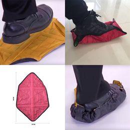 Wholesale step covers - Step In Sock Reuse Hands Free Shoe Covers Dawdler Fast Housekeeping Household Waterproof Rain Cloth Creative 11 5wr V