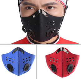Wholesale Bicycle Mask Filter - 300pcs lot Cycling dust filter filter Neoprene Half Face Motorcycle Bicycle Ski masks Anti Oil Pollution sportswear