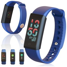 Wholesale monitor dynamics - X6S Smart Bracelet Band Dynamic Heart Rate Monitor Colorful LED Screen Smartwatch Health Sport Activity Tracker Call Alerts Wristband OTH672