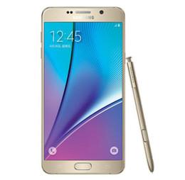 Samsung galaxy telefon freigeschaltet online-5,7 Zoll Samsung Galaxy Note 5 N920A N920T N920P N920V N920F Octa Core 4 GB / 32 GB 4 G LTE Unlocked Refurbished Cell Phone ePacket Free