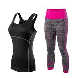 Abbigliamento sportivo Quick Dry Gym Leggings T-shirt donna Costume Fitness Tights Tuta sportiva Green Top Yoga Set Tuta da donna da donne di costume di yoga fornitori