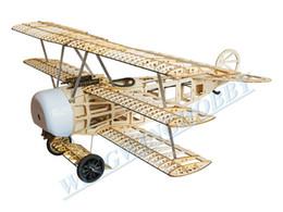 Wholesale Wood Airplane Models - Balsawood Airplane Model Laser Cut Electric Power Fokker 770mm Wingspan Building Kit Woodiness model  WOOD PLANE