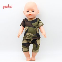 Wholesale Girls Western Style Dresses - 1Set Doll Camouflage Battle Fatigues Doll Clothes Fit 18 Inch American Girl Dolls 43cm Baby Born Zapf Clothes