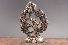 Wholesale antique chinese coins - Exquisite Chinese hand carved Cupronickel statue of Cupronickel coins tree as445