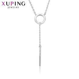 Wholesale Fashion Jewelry Deals - 11.11 Deals Xuping Fashion Temperament Long Chain Necklace Jewelry for Women Thanksgiving Christmas Day Gifts S74-43850