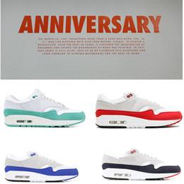 chaussures de pastèque femmes Promotion Nike Air MAX Ultra PK 1 OG Anniversary Hommes Chaussures De Course Blanc Aqua Sneakers Obsidian 2019 Entraîneurs De Sport Femmes Tennis Chaussures GS WATERMELON