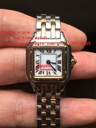 Proveedores de oro blanco online-2018 proveedores de fábrica última versión de alta calidad de movimiento de cuarzo japonés 22 mm de línea blanca 18 k relojes de mujer de oro amarillo
