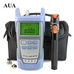 Wholesale power cable tester - Free shipping 10mW Visual Fault Locator Fiber Optic Cable Tester and Optical Fiber Power Meter (-70dBm~+6dBm) Optic Power