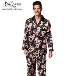 Pärchen sleepwear online-Nobel Mens Pyjama Set 2017 Neue Paar Pyjamas Luxuriöse Männer Pyjama Nachtwäsche Langärmelige Marke Hosenanzug Hause Kleidung TZ070