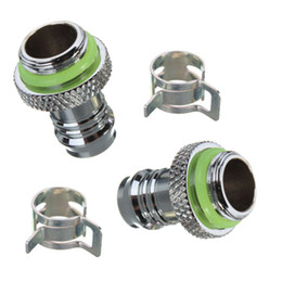 """Wholesale Pc Water Cooling Fitting - Wholesale-Wholesale 5pcs Barb Fitting Water Cooling Radiator For 3 8"""" ID G1 4 Chromed Copper Water-cooled Heat Sink for PC Computer"""