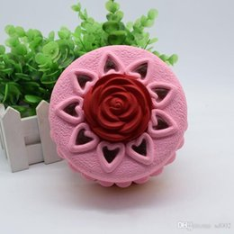 Wholesale cake decorations china - Creative Rose Cake Squishy Slow Rebound Stress Relief Venting Toy Squishies Simulation Bread Decompression Toys Hot Sale 15bx C