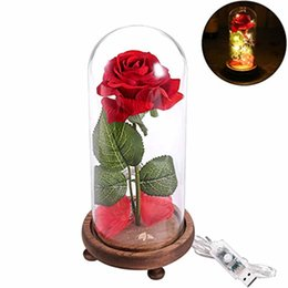 Carica USB Mecro Notte romantica di seta rossa con luce a led con petali caduti, luce notturna unica per la casa Deco MIGLIORE regalo per bambini / amici da