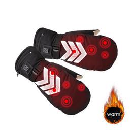Canada 1 paire hiver usb gants chauffés à la main chauffe gants électriques thermiques batterie rechargeable ski vélo moto vélo Offre