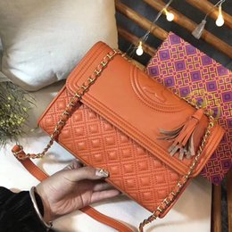 Wholesale Designer Bags Orange - hot sale shoulder bags women real leather chain crossbody bag handbags famous designer purse cf real leather for women 25cm female bag