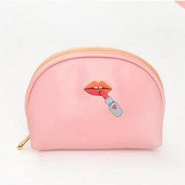 Cartoon Embroidery Women Cosmetic Bags Shell Makeup Bag Cosmetic Case  Travel Makeup Organizer Clutch Women Pouch Bag 5faa283c403c8
