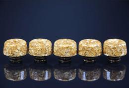 2019 mod d'or Embouts de Drip Tip Résine époxy à large alésage Shinny Gold 510 Embouchure pour 510 Thread RDA RBA E Cigarettes Mod Vapeur mod d'or pas cher