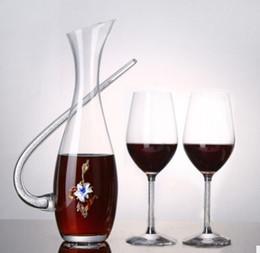 2019 bohren führen Bleifreies Kristallglas Rotweinglas Winemaker Kristall Bohren Vollfarb Kreative Wecken Flasche Falangcai rabatt bohren führen