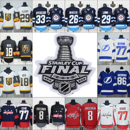 2018 new Stanley Cup Finals men women kid youth Vegas Golden Knights Tampa  Bay Lightning Winnipeg Jets Washington Capitals Hockey Jerseys afc78ec32