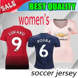 0e6db572f Manchester United women Jersey 2018 2019 Soccer 6 POGBA 9 LUKAKU 11 MARTIAL  14 LINGARD 10 RASHFORD Football Shirt Kits Uniform Team Red