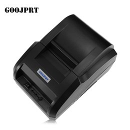 GOOJPRT USB 58 MM Termal Yazıcı Makbuz Baskı Makinesi Bilet Yazıcı Android iOS için Siyah Destek USB-B Port Ethernet portu nereden
