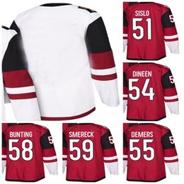 Wholesale white bunting - 2018 New Brand Adults Arizona Coyotes 51 Mike Sislo 54 Cam Dineen 55 Jason Demers 58 Michael Bunting Hockey Jerseys Accept Custom