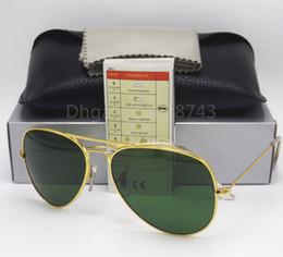 Wholesale g15 lens - High Quality Classic Pilot Sunglasses Designer Brand Mens Womens Sun Glasses Eyewear Pink framed reflection 58mm 62mm G15 UV Glass Lenses