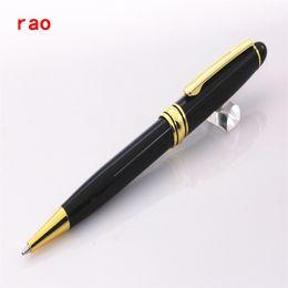 Wholesale Golden Trims - You 163 high quality Black Senior Medium Ballpoint Pen Golden Trim New